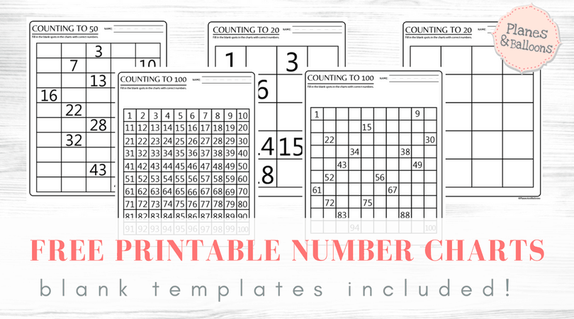 Counting To 100 Free Printable Number Charts