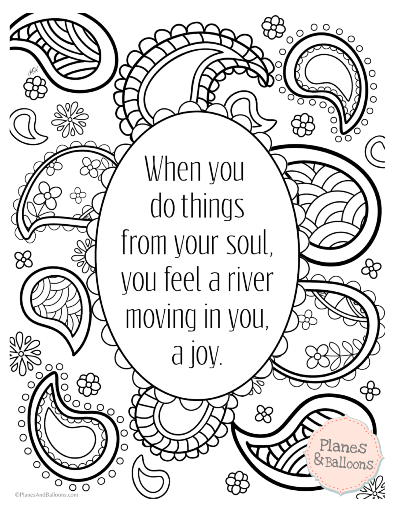 Positive quotes coloring pages to keep the good vibes flowing