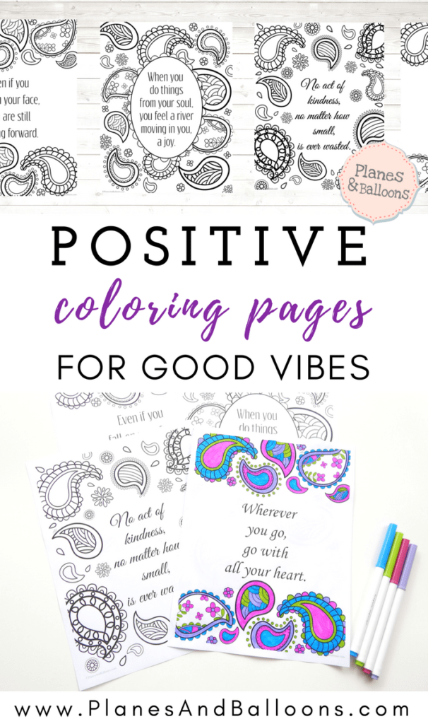 positive quote coloring pages pdf
