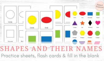 Shapes and their names: colorful printables for mastering shapes