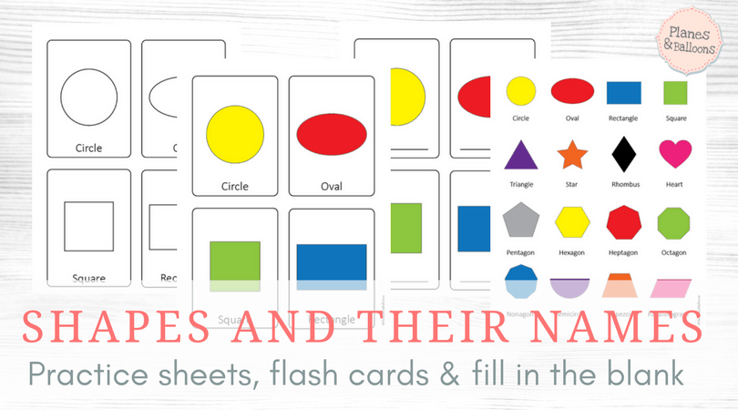image relating to Free Printable Shape Flashcards titled Styles illustrations or photos with names train sheets: Popularity, create colour