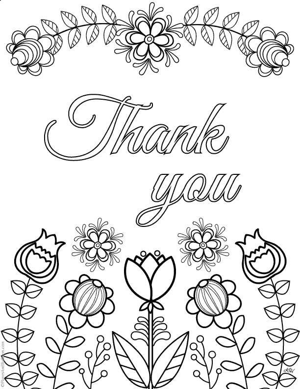 Thank You Coloring Pages: Express gratitude in a creative ...