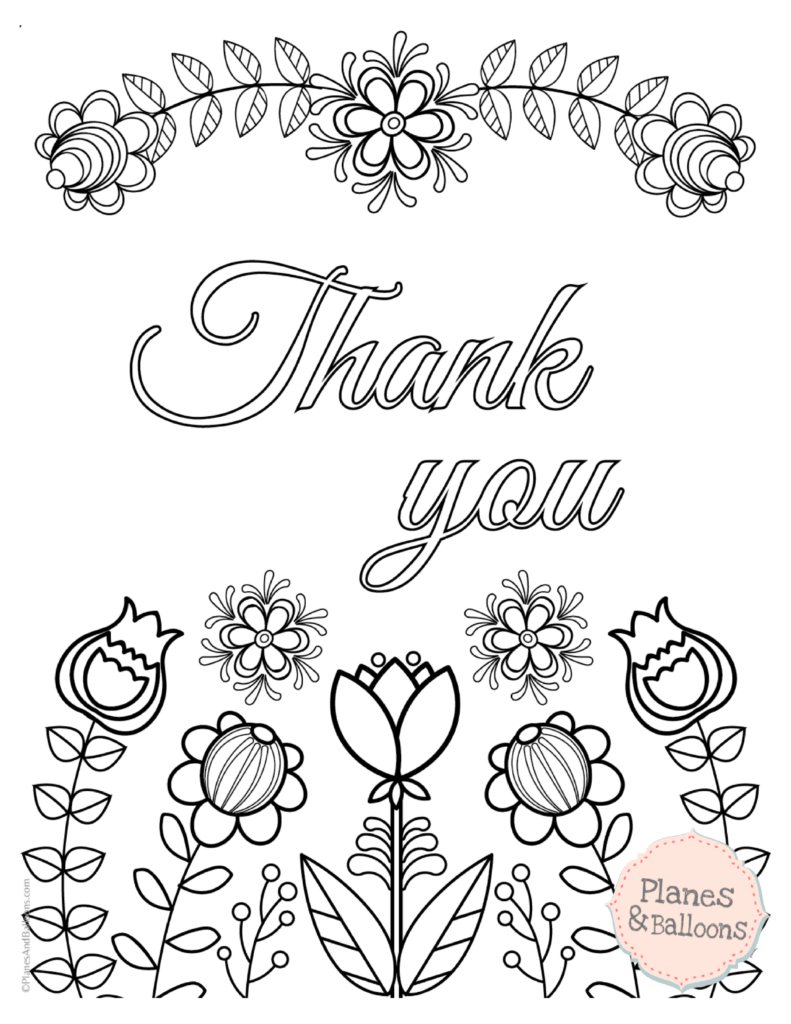 thank you coloring sheets 791x1024