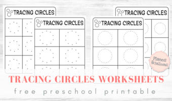 Tracing circles worksheets for a solid writing skills foundation in preschoolers