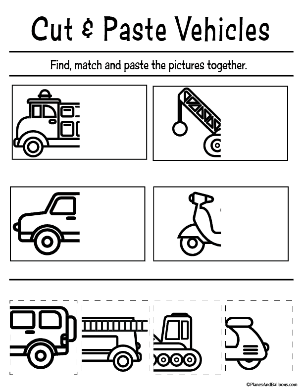 photo relating to Free Printable Cutting Activities for Preschoolers named Cost-free printable slash and paste worksheets for preschool