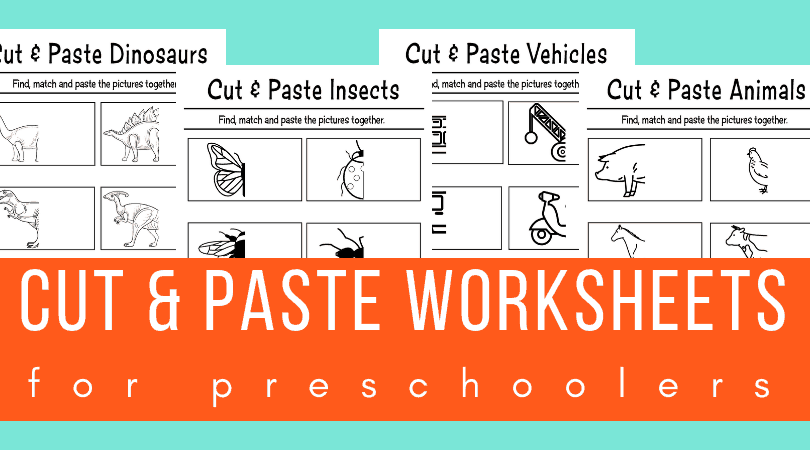 Cut and paste worksheets for preschool