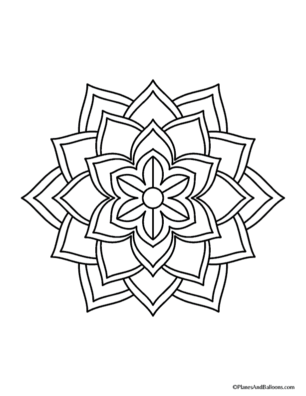 easy mandala coloring pages