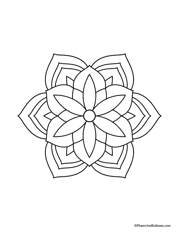 easy mandalas to color05 Planes