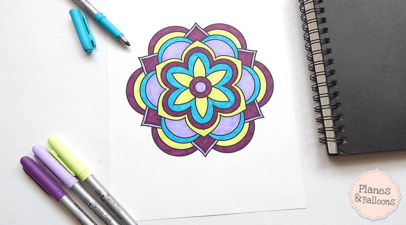 easy mandalas to color-10