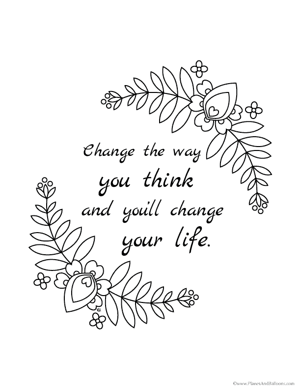 grown up coloring pages inspirational | Beautiful inspirational coloring pages for the creative ...