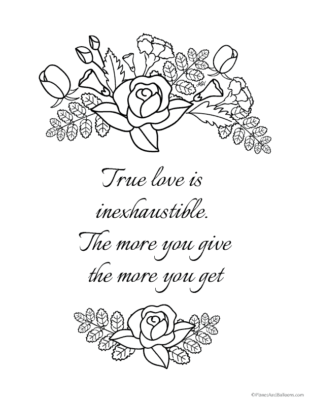 6 must-have love quote coloring pages for your rockin\' coloring ...
