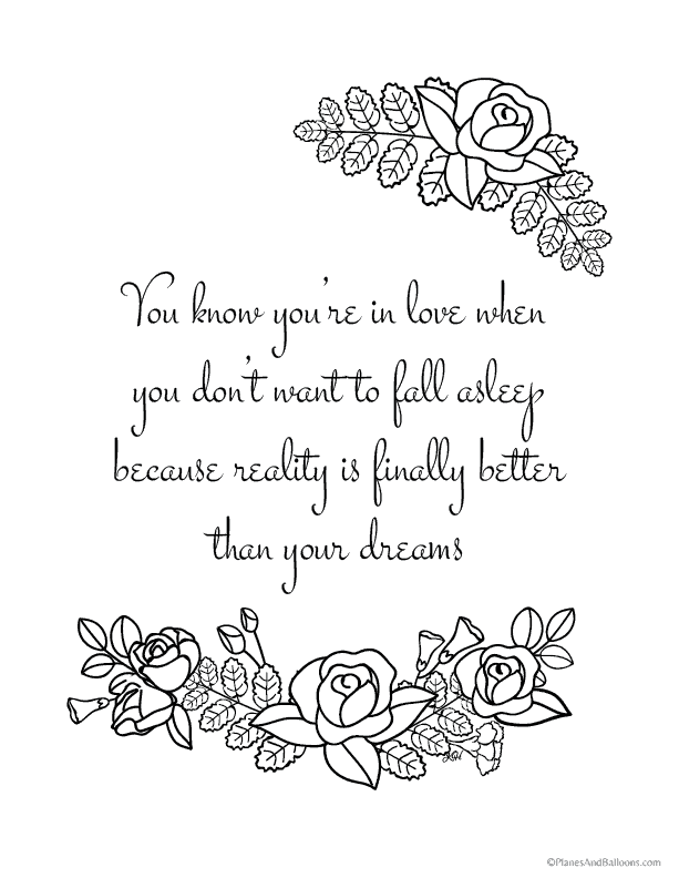 Quote Coloring Pages For Everyone Who Just Can T Get Enough