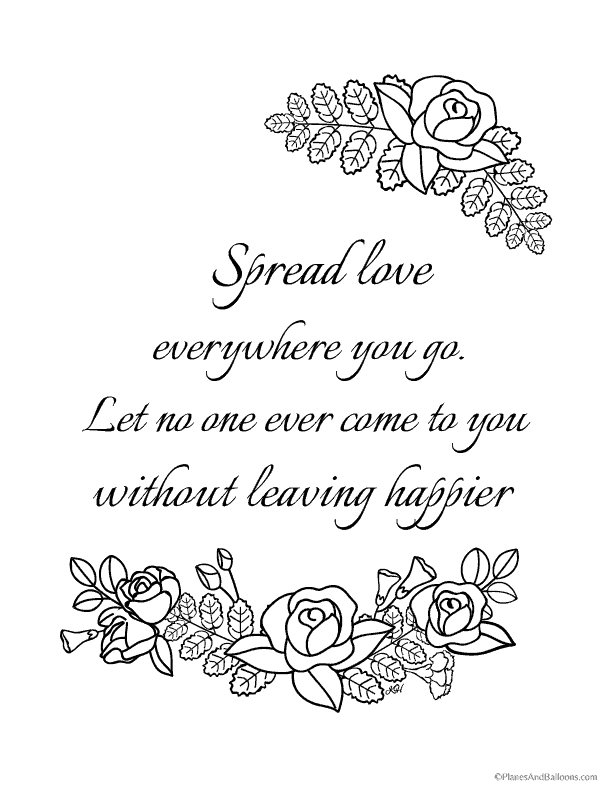 6 must-have love quote coloring pages for your rockin ...
