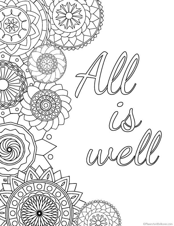 Quote Coloring Pages For Everyone Who Just Can't Get Enough Of Coloringrhplanesandballoons: Colouring Pages For Adults Quotes At Baymontmadison.com