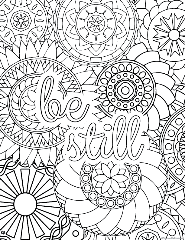 Stress relief coloring pages to help you find your zen again for Stress relief coloring pages online