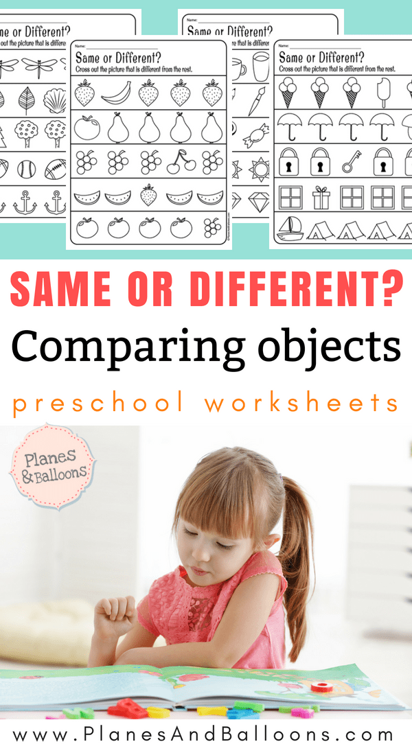 same and different worksheets