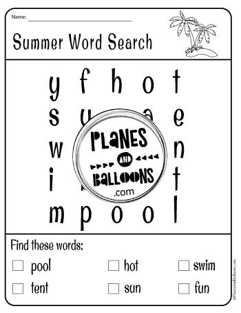 summer worksheets kindergarten
