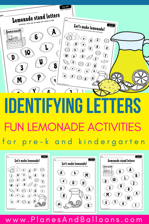 letter recognition pdf summer lemonade letter recognition worksheets pdf set 6521