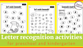 Lemonade stand letters: Letter recognition activities for fun summer learning