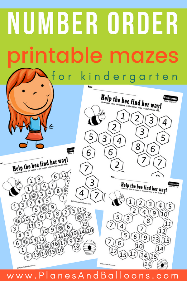 number order activities for kindergarten