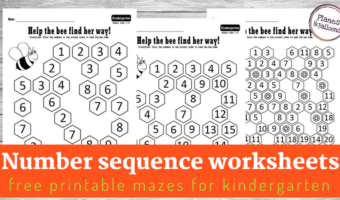 Busy bees inspired mazes: Ready-to-go number order activities for kindergarten