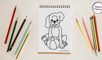 Cute puppy coloring page for all the kids who love their pets