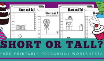 short and tall worksheets