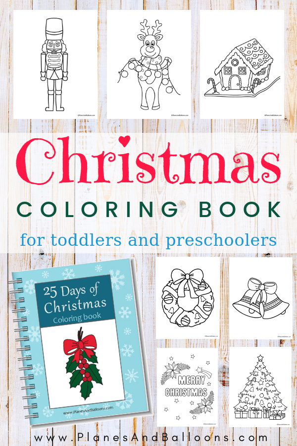 Easy Christmas coloring pages for kids, toddlers, and preschoolers. 25 SIMPLE Christmas coloring pages for every day til Christmas! Can't wait to color them with my preschoolers. #christmas