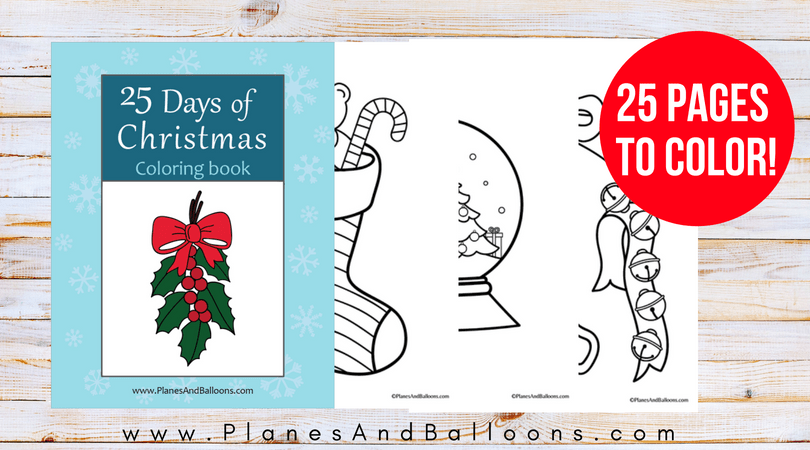 Christmas coloring book for toddlers and preschoolers.