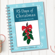 25 Days of Christmas coloring book. The perfect countdown activity for kids of all ages