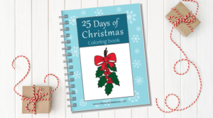 Christmas coloring book for preschoolers
