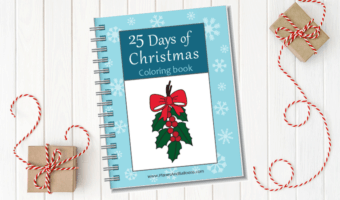 25 Days of Christmas coloring book. The perfect countdown activity for toddlers and preschoolers