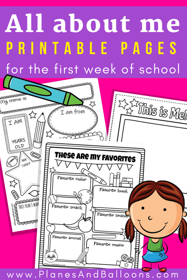 picture relating to All About Me Free Printable Worksheets referred to as All with regards to me worksheets Totally free printable best for again in direction of