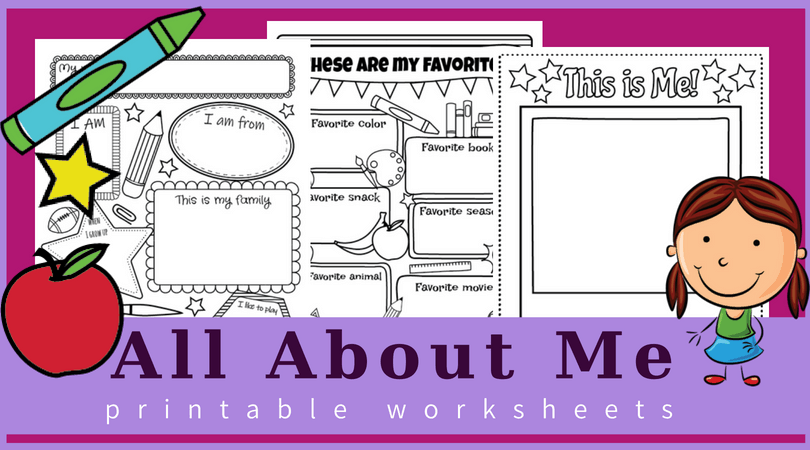 image regarding All About Me Printable referred to as All around me worksheets Free of charge printable fantastic for again toward
