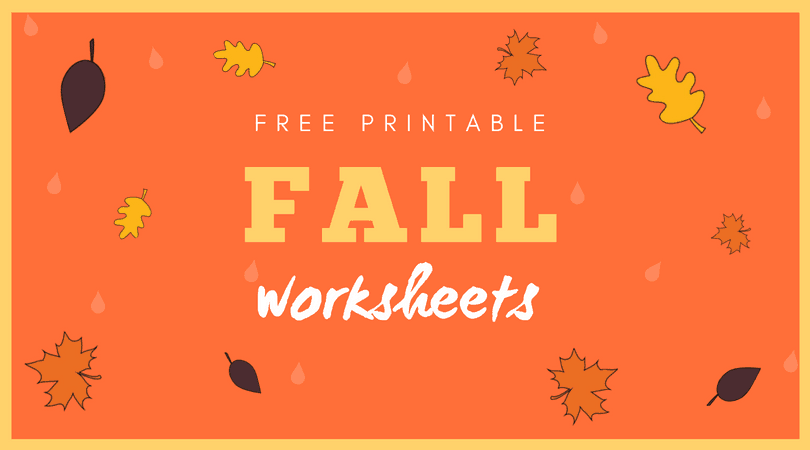 Fall worksheets for preschool and kindergarten. A great roundup of free printable fall worksheets. #fall
