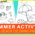 free printable beach coloring page