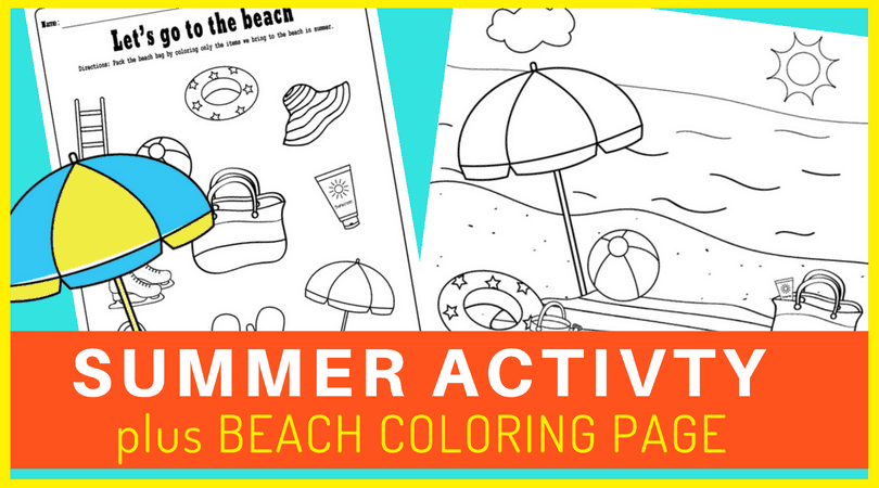 photo regarding Beach Printable referred to as No cost printable seaside coloring website page and a pleasurable match sheet