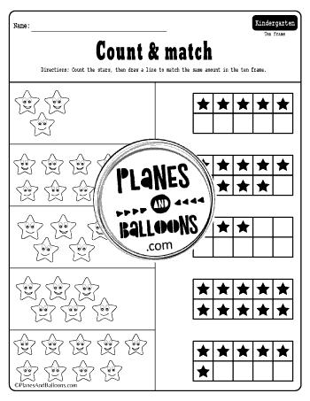 ten frames kindergarten