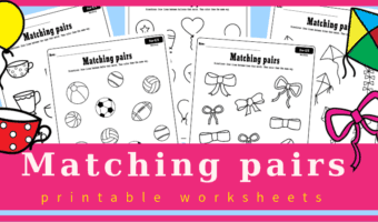 Matching and coloring worksheets for preschoolers