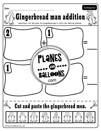 Gingerbread man addition