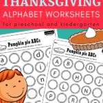 free printable abc kindergarten activities