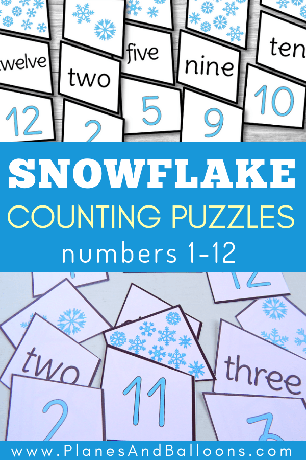 Free number matching activities for winter unit. So fun! Perfect for printable number matching file folder games as well! #kindergarten