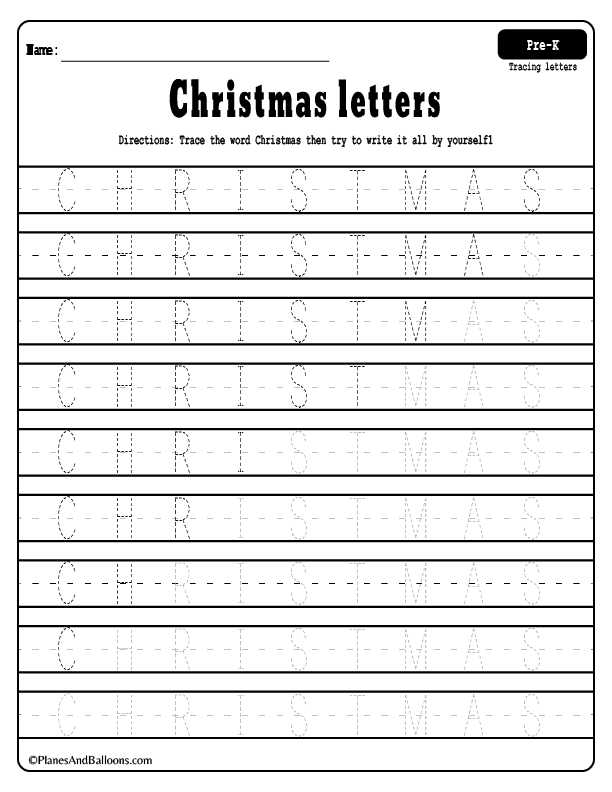 Preschool tracing worksheets for your CHRISTMAS lesson plan! This is the perfect set of tracing worksheets preschool kids will love to solve. Plus coloring activity too! #Christmas #winter #holidayseason #freeprintableworksheets #tracingletters #handwriting #finemotorskills