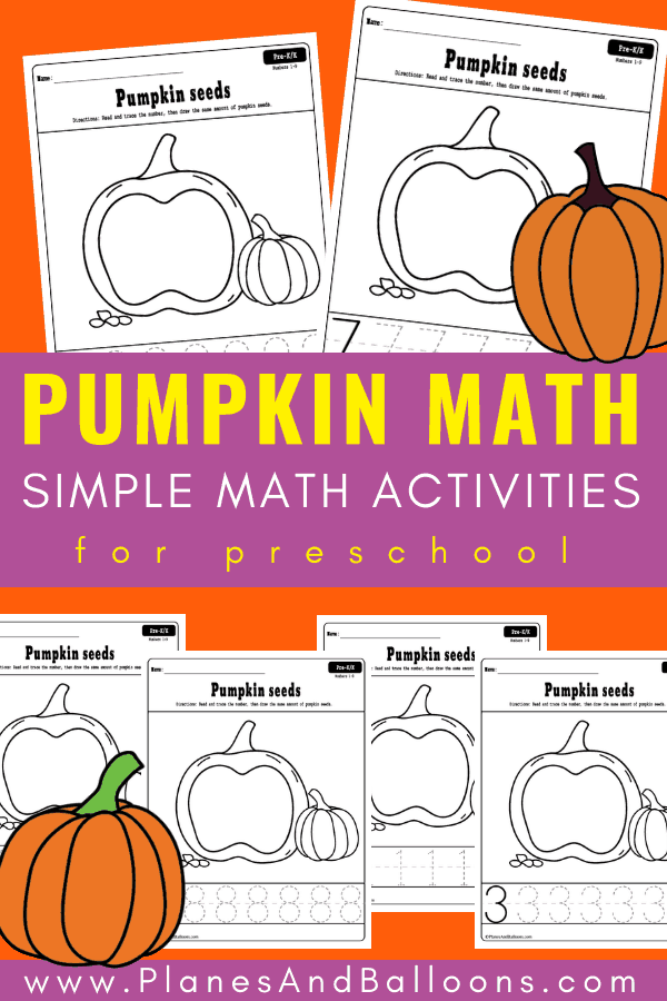 Preschool numbers WRITING practice free printable worksheets. Get these awesome FALL preschool printables for TRACING numbers practice. #fallthemepreschool #pumpkinsworksheets #fallfreeprintables #numbersense #tracingnumbers #preschool #kindergarten""