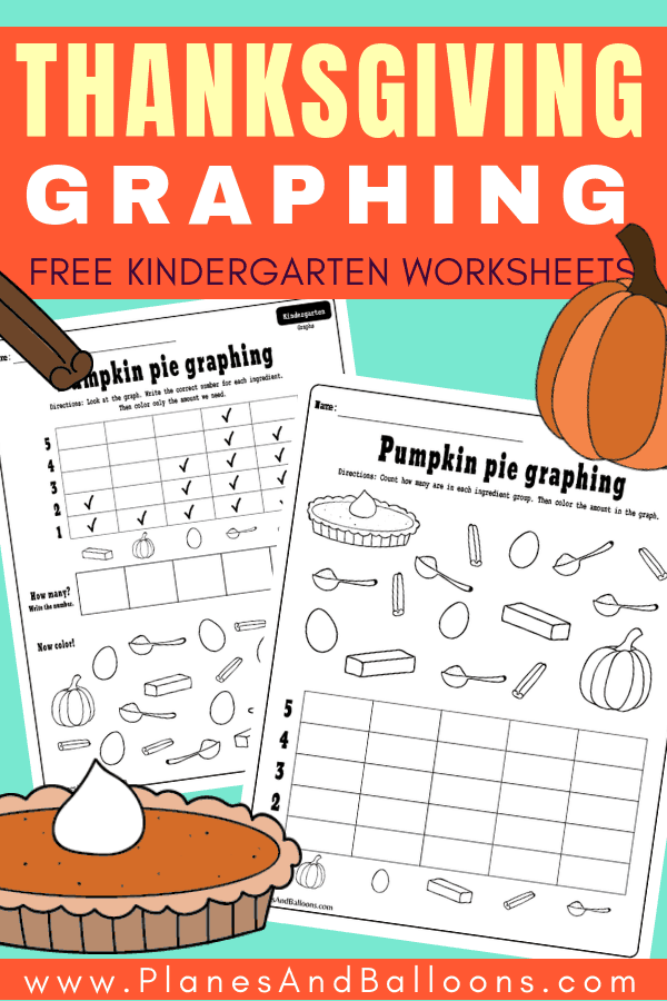 Free printable THANKSGIVING kindergarten activities for your math centers or Thanksgiving lesson plans. These Thanksgiving math kindergarten worksheets teach reading and making graphs. Add them to your FALL worksheets for kindergarten this year. #thanksgiving