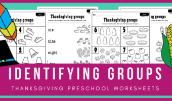 Thanksgiving math activities for holiday preschool fun