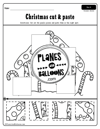 Christmas preschool worksheets