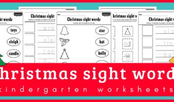 Christmas sight words activities for kindergarten