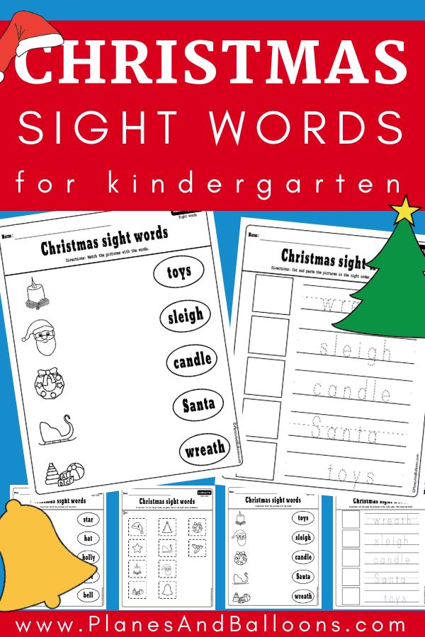 Christmas kindergarten worksheets
