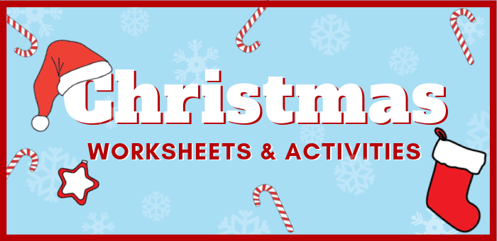 Fun free printable Christmas worksheets and activities for preschool and kindergarten. Christmas math activities, fine motor skills, writing and pre-writing, Christmas literacy centers ideas and more! #christmas